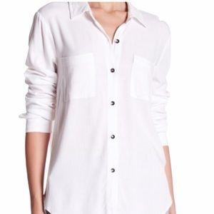 SPLENDID White Long Sleeve Button Down Top